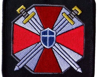 FREE SHIPPING*** Resident Evil Umbrella Corporation Sword Shield Patch ~ NEW
