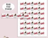 FLOSSIE WASHI STRIP | Planner Stickers | Bows | Character | Hand Drawn | Erin Condren | Tn | S263