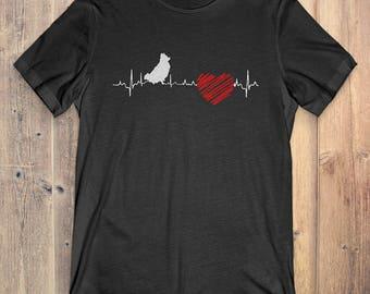 Pomeranian Dog T-Shirt Gift: Pomeranian Heartbeat