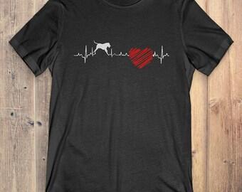 Dogo Argentino Dog T-Shirt Gift: Dogo Argentino Heartbeat
