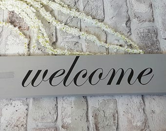 welcome wood sign quote - House warming, gift, new home, gallery wall, family