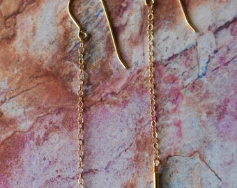 14K Gold Tube Earrings