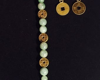 Jade Chinese Coin Set