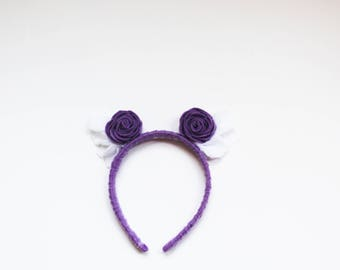 Rose Wings Headband