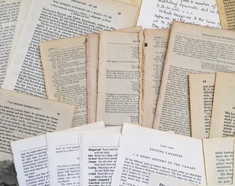 50 Vintage Book Pages for Junk Journal, Smash Book, Ephemera, Scrapbook, Altered Art, Papercraft, Collage inc. Sheet Music and illustrations