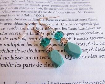 Earrings turquoise blue
