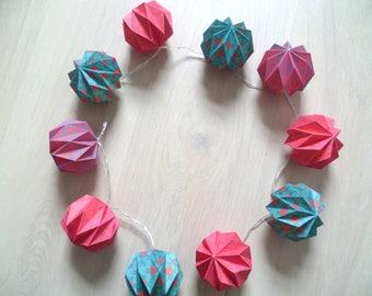 Luminous origami Garland slots