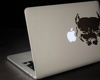 Pit Bull Sticker for Macbooks and other Laptops, Pit Bull Terrier Pet Dog Laptop Stickers PitBull, Macbook Pet Decal, mac