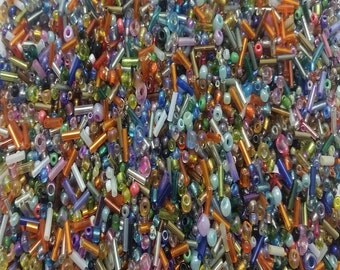 50g Glass Seed Beads - Assorted - A4700