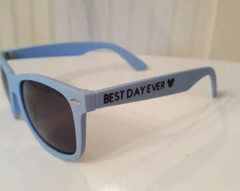 Best Day Ever blue sunglasses