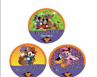 Halloween on the High Seas - Disney Cruise Button - Halloween Button - Halloween Cruise Pin - Minnie Button - Mickey Button - Disney Button