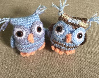Small Crocheted Stuffed Owl Toy