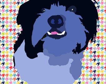 Custom Dog Portrait Dog Art Print