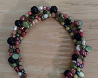 Precious Gem Stone 4 strand beaded bracelet