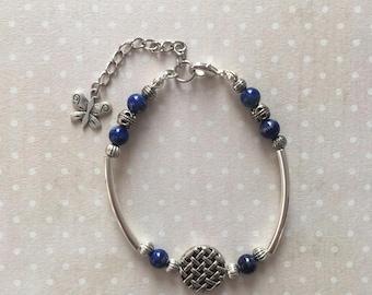 Bracelet en perles semi-précieuses Lapis-Lazuli