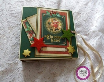 Scrapbook Mini-A Christmas carol-graphic 45 design.  Christmas photo book.