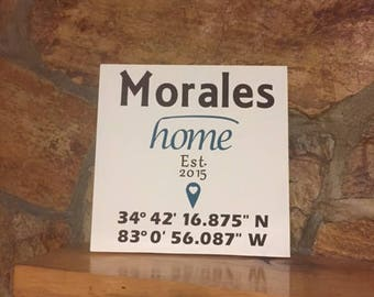 Home Established Custom Wood Sign
