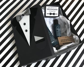 Groomsmen Gift Box | Groomsmen Proposa | Will You Be My Groomsman Box | Groomsmen Box | Gifts for Groom Dad Father | Wedding Party Favors