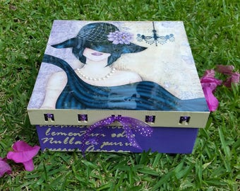 Cajas decoradas/ Mixed Media Box