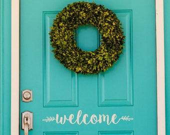 WELCOME sign / vinyl door greeting / welcome door decal / welcome sign / door vinyl / door decal / welcome door sticker