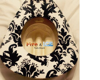 Custom painted cowboy hats