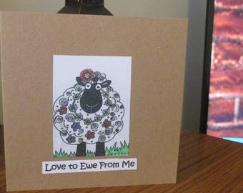 Hippy Sheep - Love to Ewe From Me