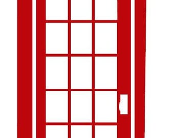 Custom Family Name British Telephone Booth Wall Art