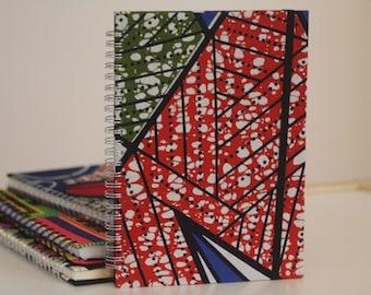 Notebook, notepad, african notebook, african fabric, ankara notebook, journal, planner, african plannner, ankara planner