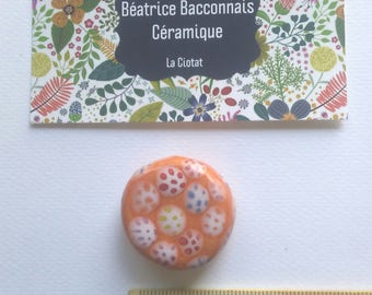 Created in Provence ceramic flat bead