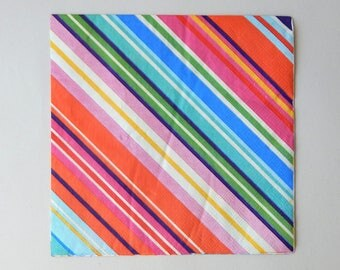 2 multicolored stripes (A3) paper napkins