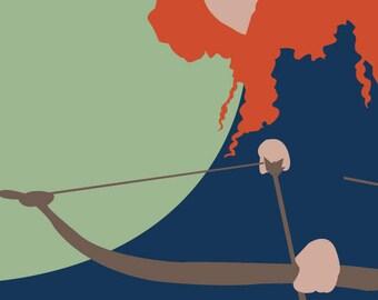 Merida - Brave - Postcard