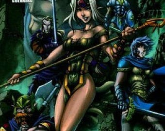 Warlands Dark Tide Rising - DW – Dream Wave Productions - April 2003 - Issue 5, Vol 3 – Graphic Novel