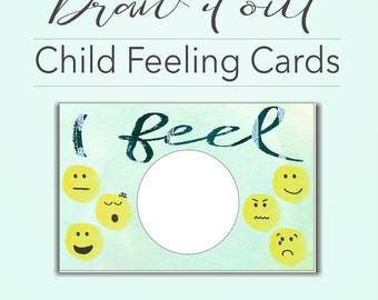 Draw it out Child Feeling Cards