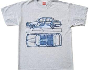BMW 3 series tshirt e21 1602 e30 M3 2002 german style motorsport