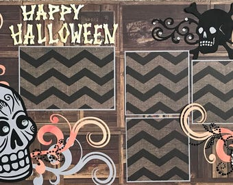 Happy Halloween Premade Scrapbook Page