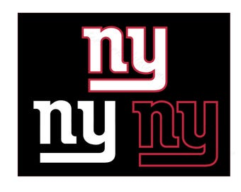 New York Football SVG and Studio 3 Cut File Cutouts Files - Logo Stencil for Silhouette Cricut Brother SVGS - Stencils Decals Giants NY