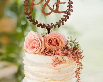 Wedding Cake Topper, Letter cake topper, Gold Cake Topper, Monogram Cake Topper, Gold Glitter Toppers, Initials Cake Topper Single Letter