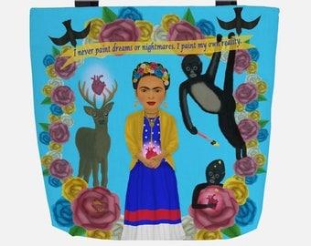 Blue Frida Kahlo (Everyday Use) Tote Bag