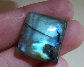 Labradorite natural plain square shape cabochon - 18mm x 19.5mm x 6mm-STK-21- LBDL-31