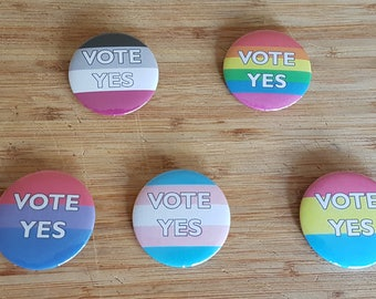 Vote Yes Marriage Equality Badges