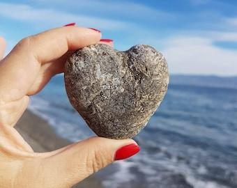 Ionian Sea Stone, Natural Beach Stone, Sea Stone, Heart Sea Stone, 001