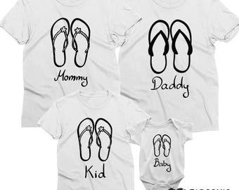 Flip Flops Family, Family vacation shirt, Family vacation, Family shirts, Vacation shirts, Vacation family shirts