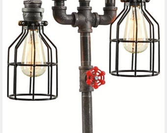Industrial Table Top Lamp