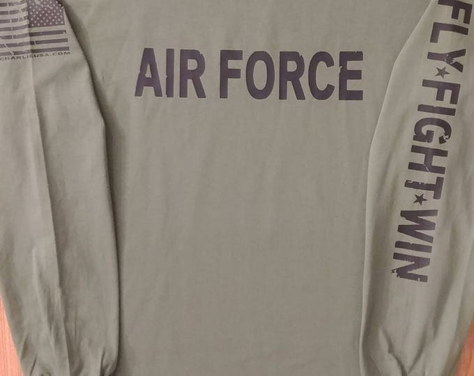 Air Force Distressed Long Sleeve - Large - Free Shipping