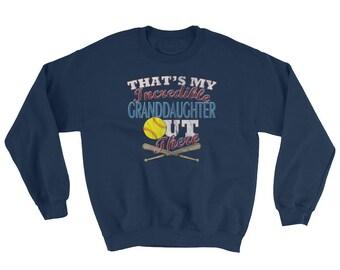 Softball Grandma Sweatshirt-Softball Grandpa Shirt-Softball Grandparent-Softball Grandma Gift-Softball Grandpa Gift-Softball Grandma Shirt