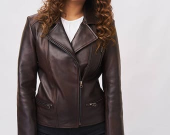 Leather Jacket - Espresso Brown