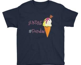 sundae funday, sundae shirt, ice cream cones, ice cream print shirt, funny kid shirt, funny shirt, ice cream t shirt women, cool school shir