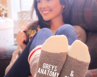 Greys Anatomy & Chill Cabin Socks