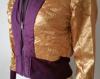 Golden Bomberjacket-restyled and recycled materials only