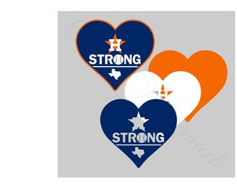 Houston SVG & Studio 3 Cut File Cutouts Files Logo Stencil for Silhouette Cricut Logos Decal SVGS Decals Baseball Astros Strong Heart Logos